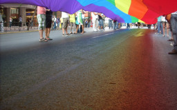 Lesbians, gays and transgender people demonstrate for their rights at a parade // Foto: Grzegorz Wysocki