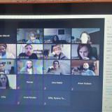 Blick auf den PC-Bildschirm zu den Teilnehmern des Online-Seminars // Foto: Siwan Alkerdi
