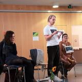 Ein Teilnehmer spricht über sein Verständnis von Menschenrechten