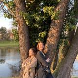 Europäische Freiwillige Nataliia Rondiak und Anastasiia Yevtushenko (v.l.n.r.) // Foto: Oksana Spolyak