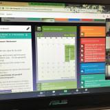 Bildschirm während des Online-Seminars