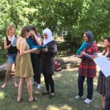 Participants receiving their certificates, Photo: Dorit Machell