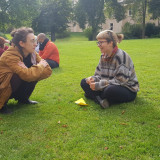 Group work in the park