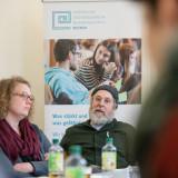 Arbeitsgruppentreffen »Weimarer Erklärung«, Mareike Hage (Deutsch Nationaltheater) und Dr. Alan Bern (Other Music Academy e.V.) v.l.n.r.