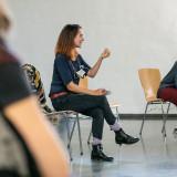 Trainerin Margaux Richet und Dorit Machell aus dem Projektteam // Foto: Thomas Müller