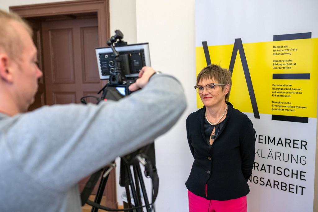 Aufzeichnung des Videostatements von Dr. Lorenz, Präsidentin der Klassik Stiftung Weimar